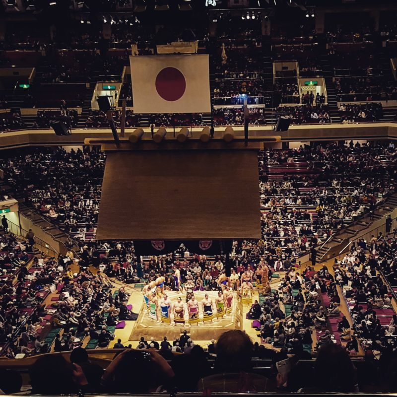 Traditional sumo in Tokyo, Japan