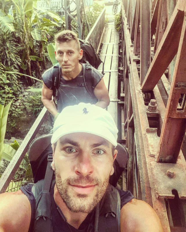 Michal Košátko and Roland Vince in Luang Prabang, Laos