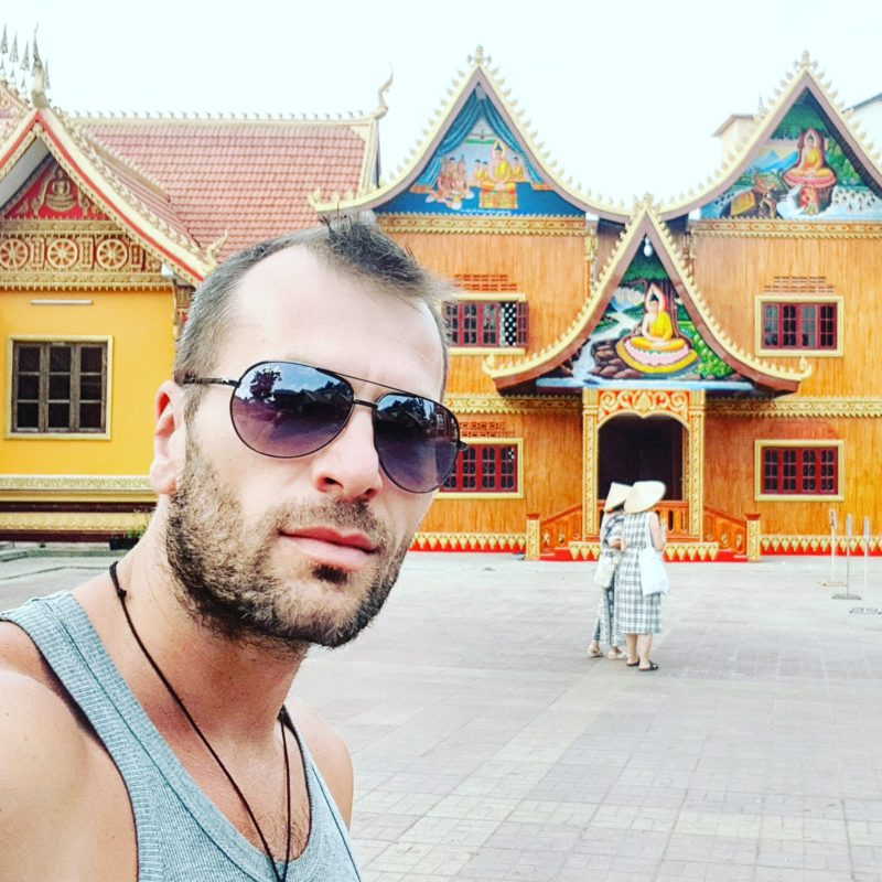 Michal Košátko sightseeing in Vientiane, Laos