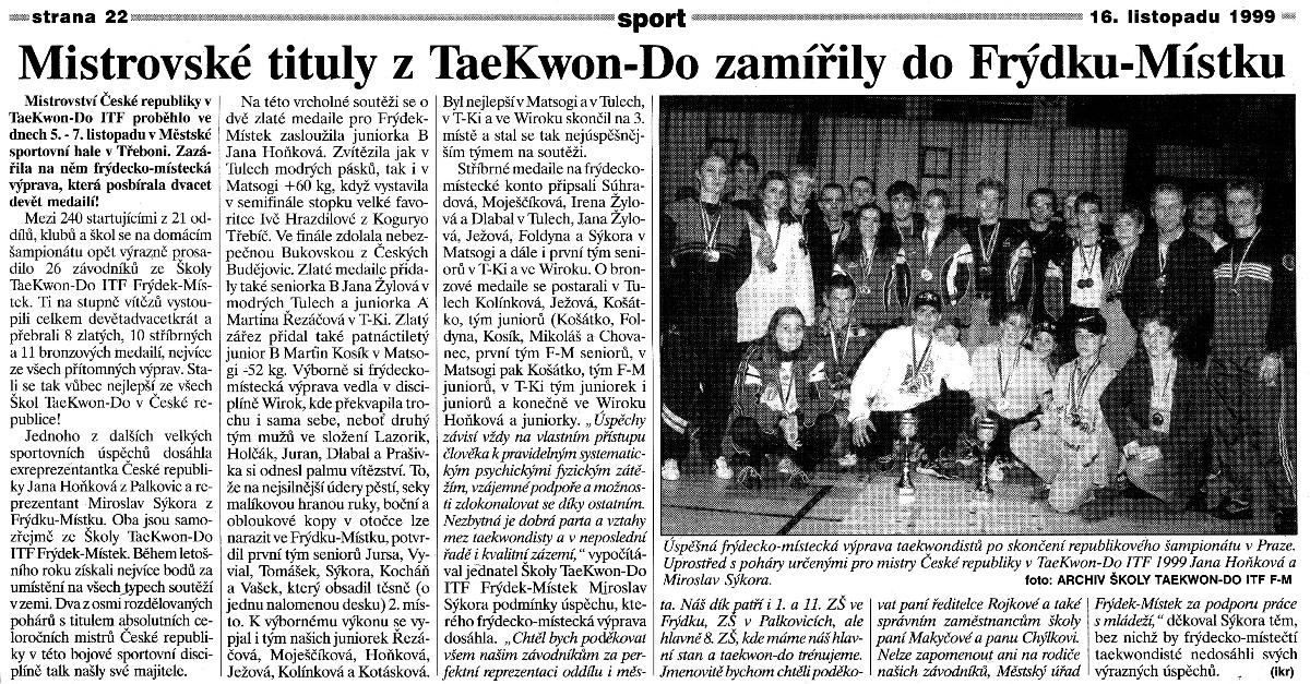 Czech Republic Championship 1999 (Czech Republic, November 1999)