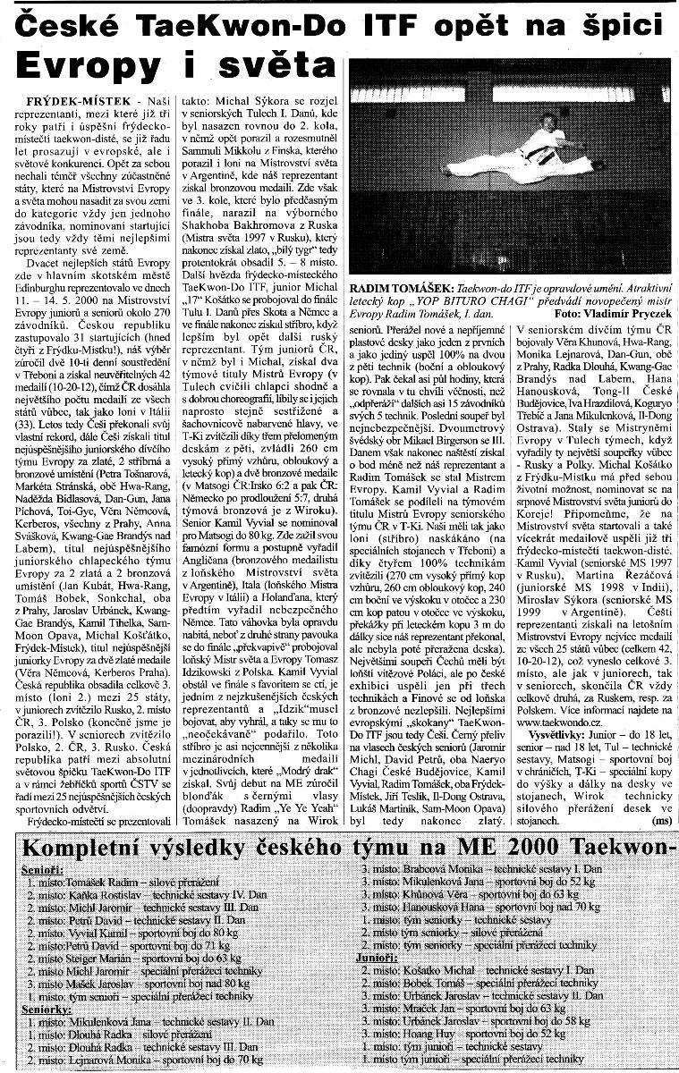 Czech Taekwon-do ITF on the top (Czech Republic, May 2000)