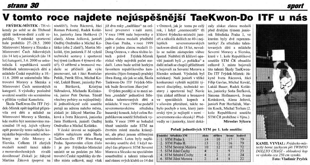 Success of Frýdek-Místek School (Czech Republic, May 2000)