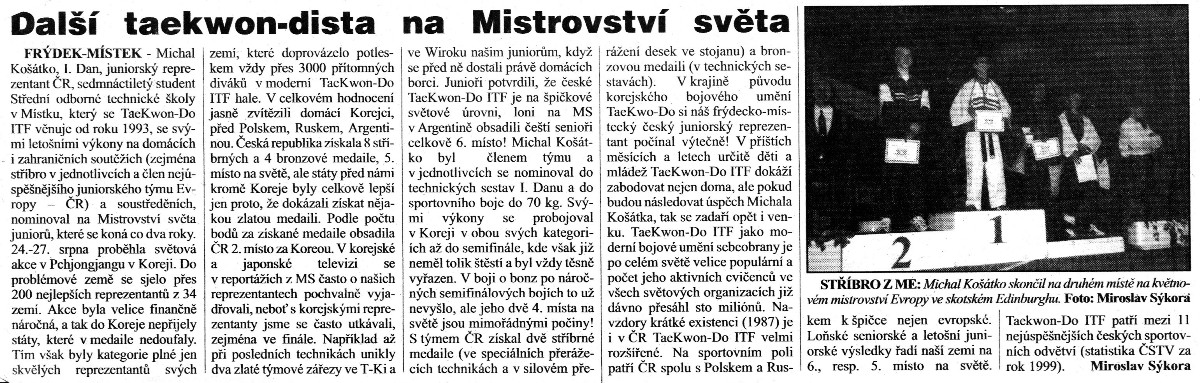 Next Taekwon-do ITF member on the World Championship (Czech Republic, October 2000)