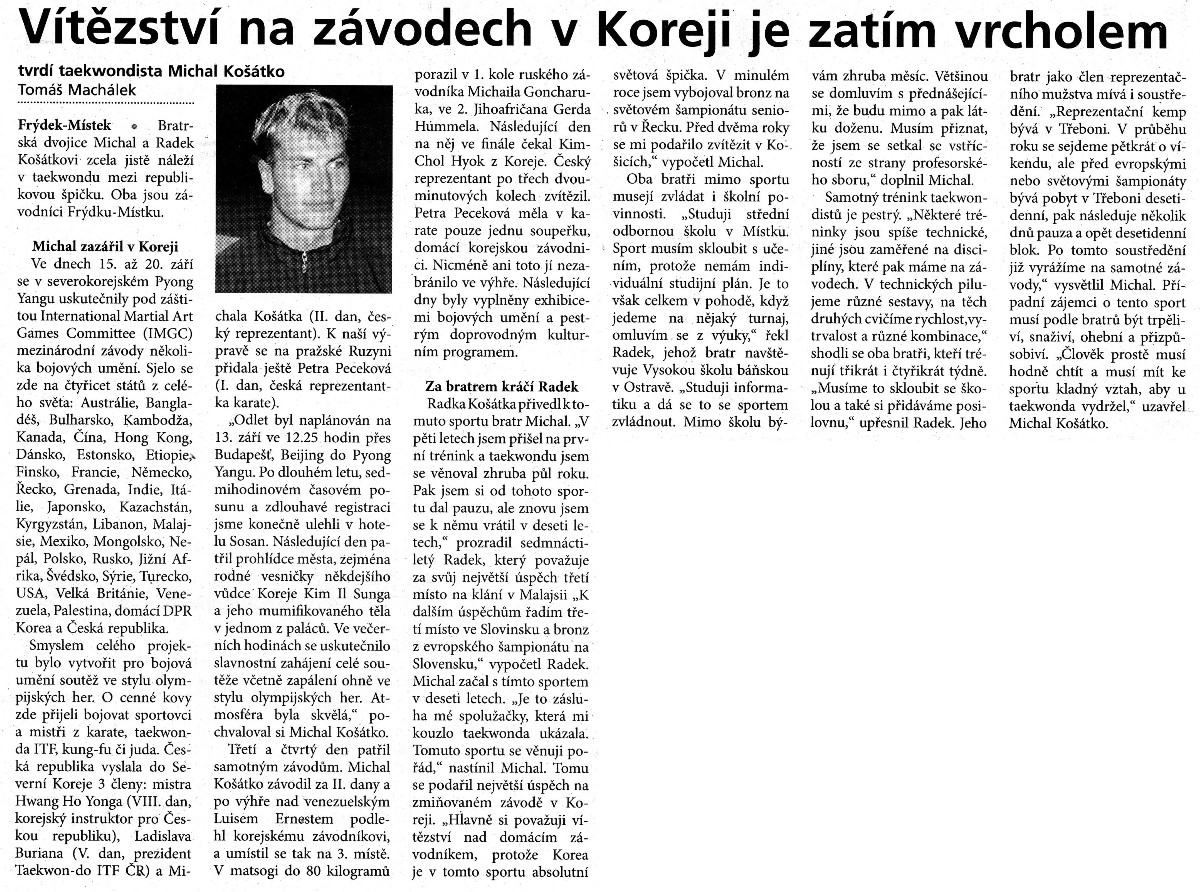 Victory in DPR Korea is the top in the meantime (Czech Republic, September 2004)