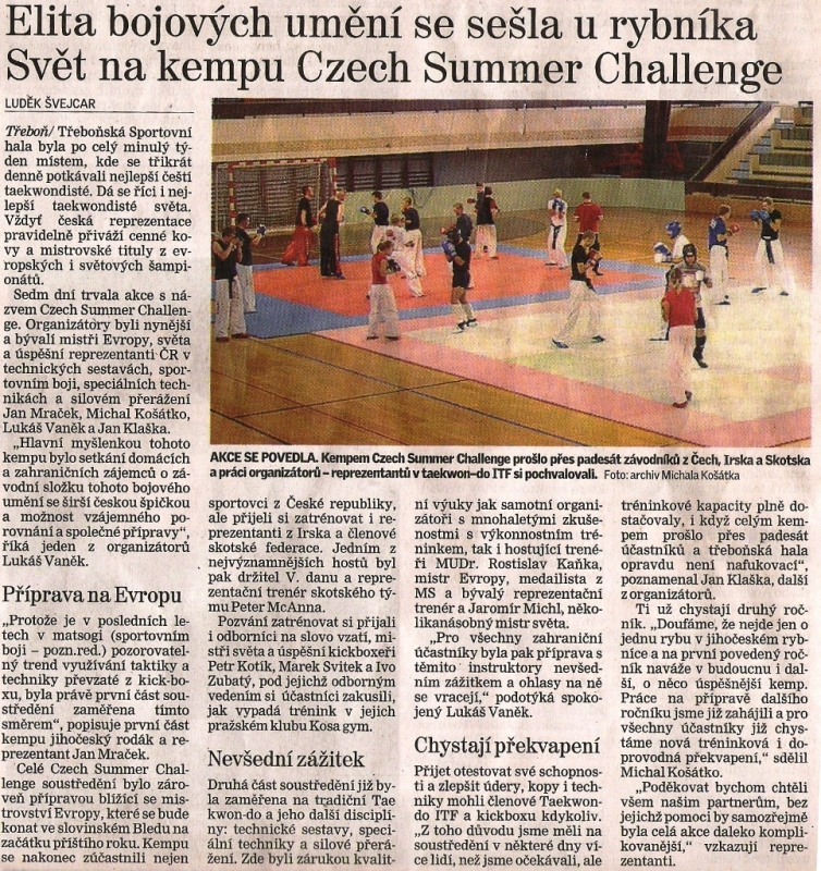 World camp Czech Summer Challenge (Czechia, 2007)