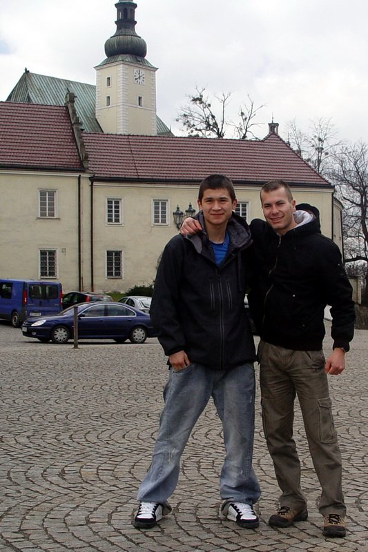 Steen and Michal in Frýdek-Místek, Czechia