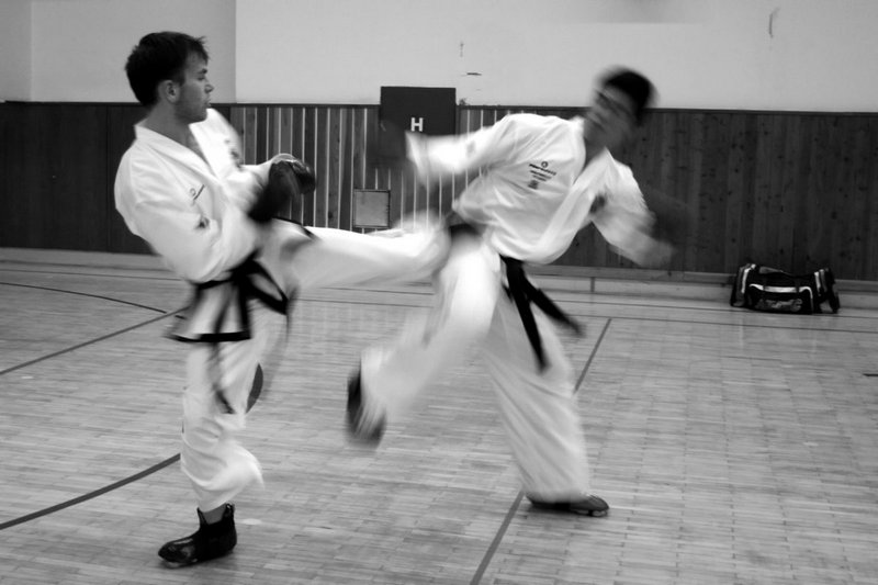 Sparring training between Michal Košátko and Angutinnguaq Tittussen