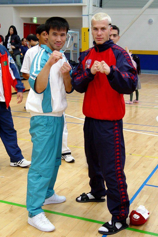 With Pu Song Min from DPRK (World Championship 2005, Australia)