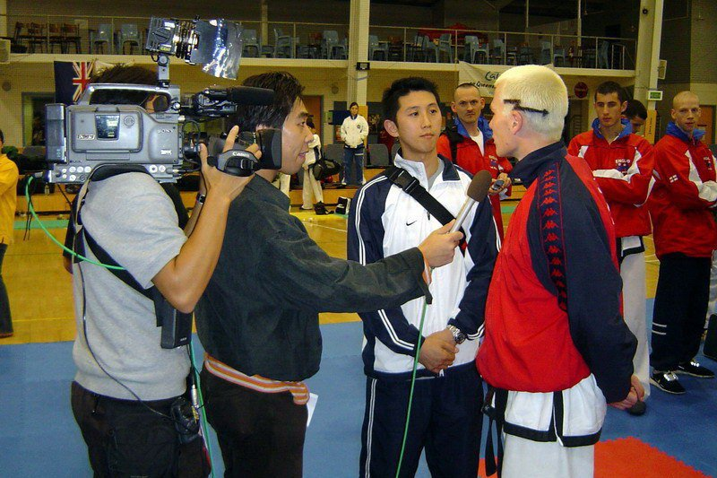 Interview for Japanese TV (World Championship 2005, Australia)