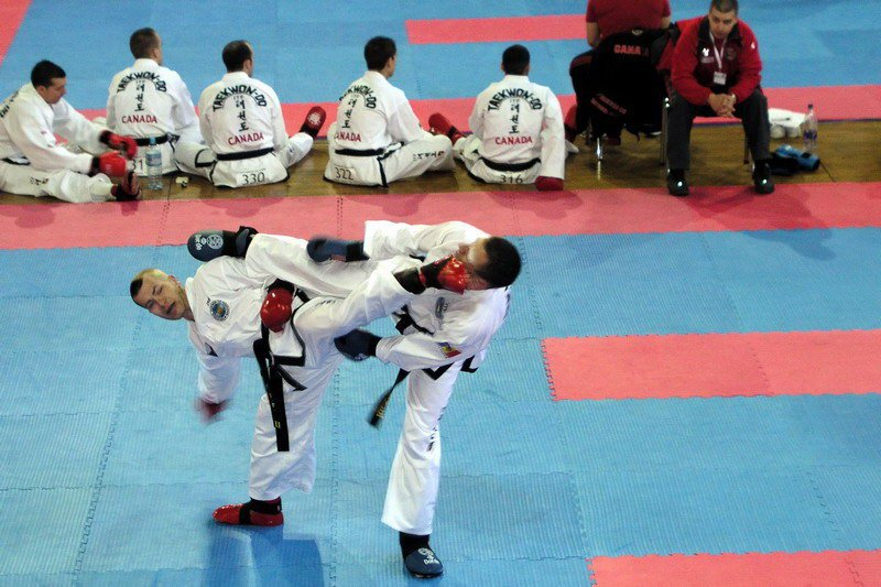 Team sparring against Moldova (World Championship 2007, Slovenia)