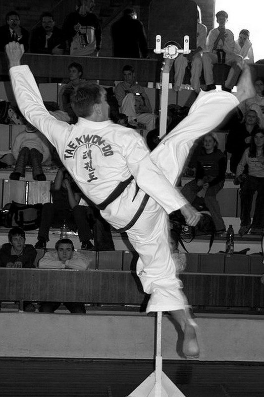 Nopi chagi kick 2.6 meters high (Czech Republic)