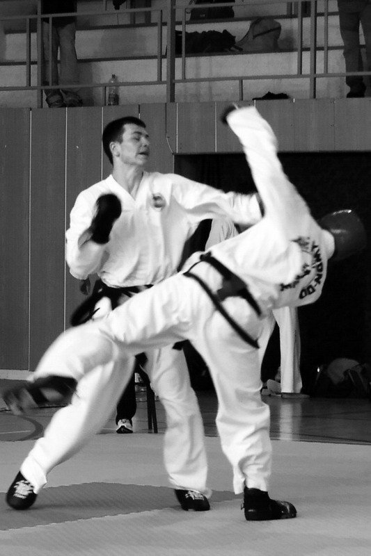 Sparring against Přemysl Štola (Regional competition 2002, Czechia)