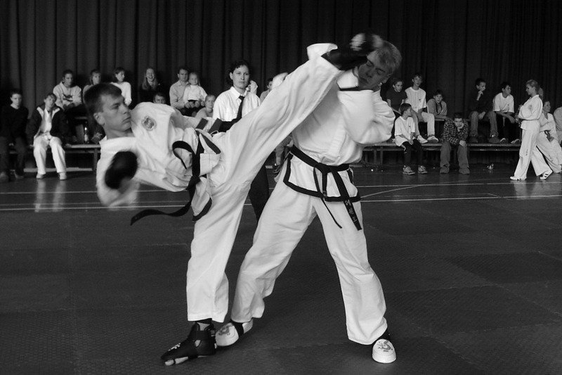 Reverse turning kick, regional competition 2002, Czechia