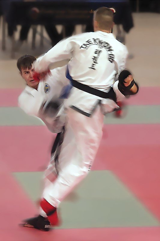 Sparring against Jiří Teslík (Republic competition 2003, Czechia)
