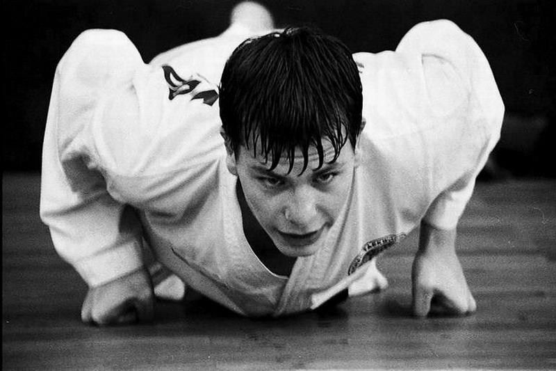 Michal Košátko at the training