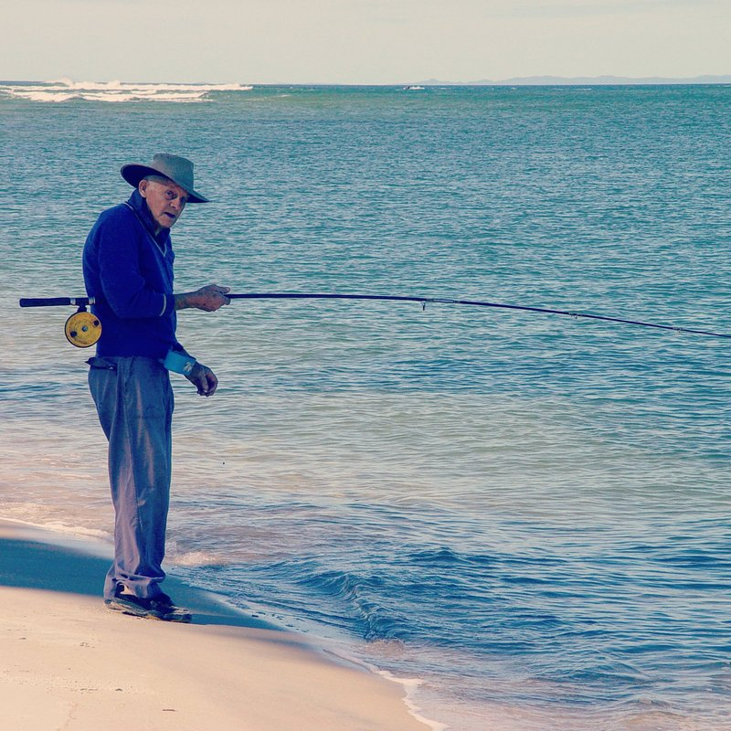 Fisherman in Caloundra, Australia