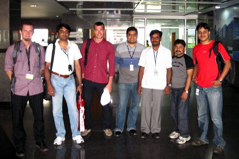 Michal Košátko with IBM team in Bengaluru, India