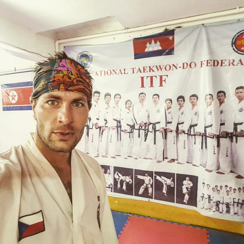 Michal Košátko on Taekwon-do training, Cambodia