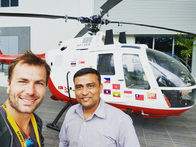 Michal Košátko visiting Airbus Helicopters Singapore