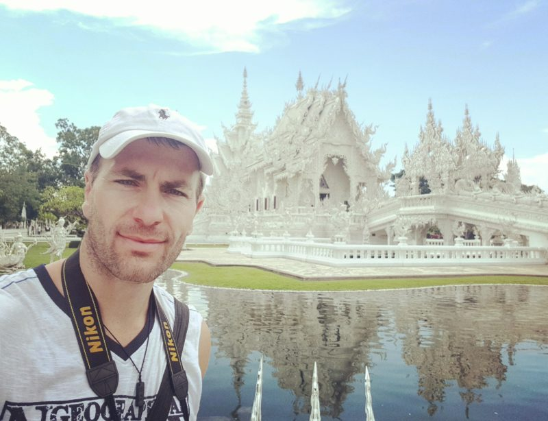 Michal Košátko at White Temple, Chiang Rai, Thailand